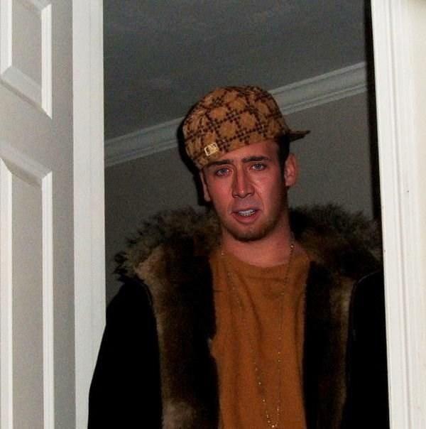 Nicolas Cage as Scumbag Steve