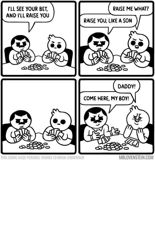 Webcomic about folks playing poker and it is his dad
