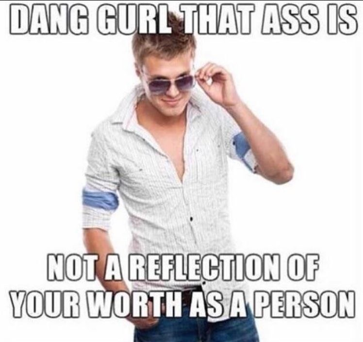 Meme of a girl being checked out by a guy but he really has a practical message for her