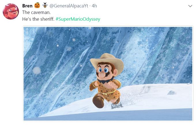Mario as a sheriff caveman