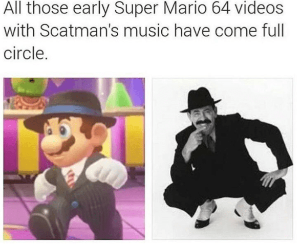Mario brothers as Scatman