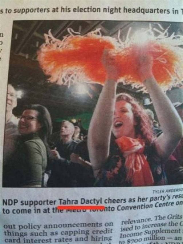Poster - s to supporters at his election night headquarters in T TYLER ANDERSO NDP supporter Tahra Dactyl cheers as her party's res to come in at the mea o Convention Centre on out policy announcements on relevance. The Grits things such as capping credit ised to increase the C card interest rates and hiring Income Supplement to $700 million an