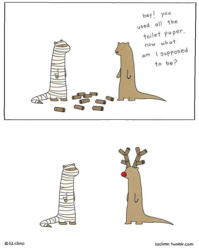 Pattern - hey! you used all the toilet paper. what now am supposed to be? liz climo lizclimo.tumblr.com