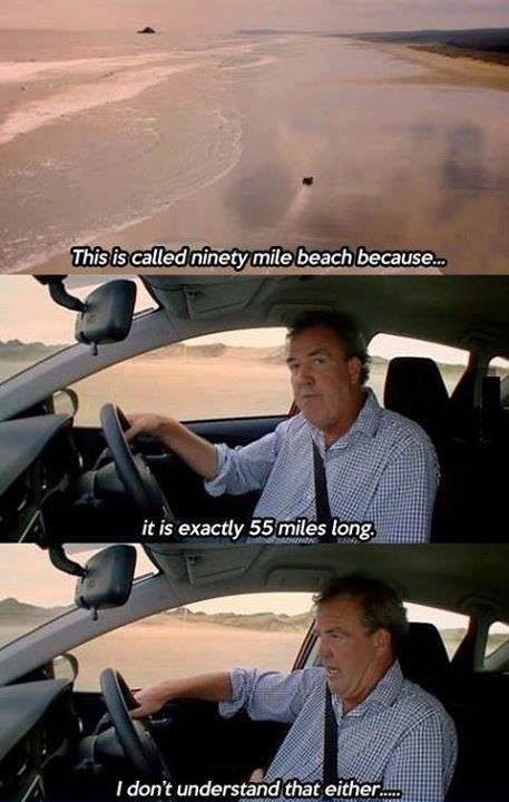 Vehicle - This is called ninetymile beach because... it is exactly 55 miles long I don't understand that either.. TItadkna
