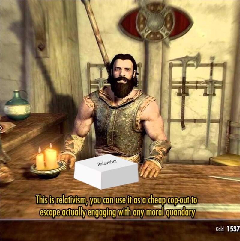Video game relativism meme