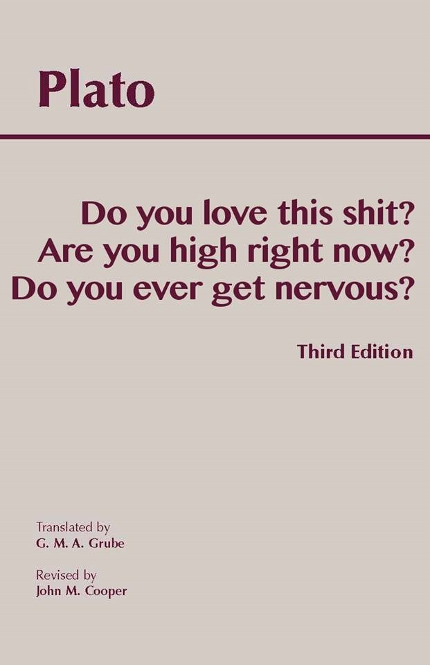 Plato 3rd edition funny book meme