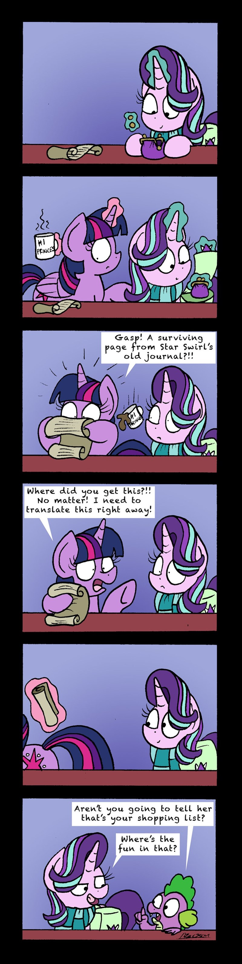 spike bob the dalek starlight glimmer twilight sparkle shadow play comic - 9091522816