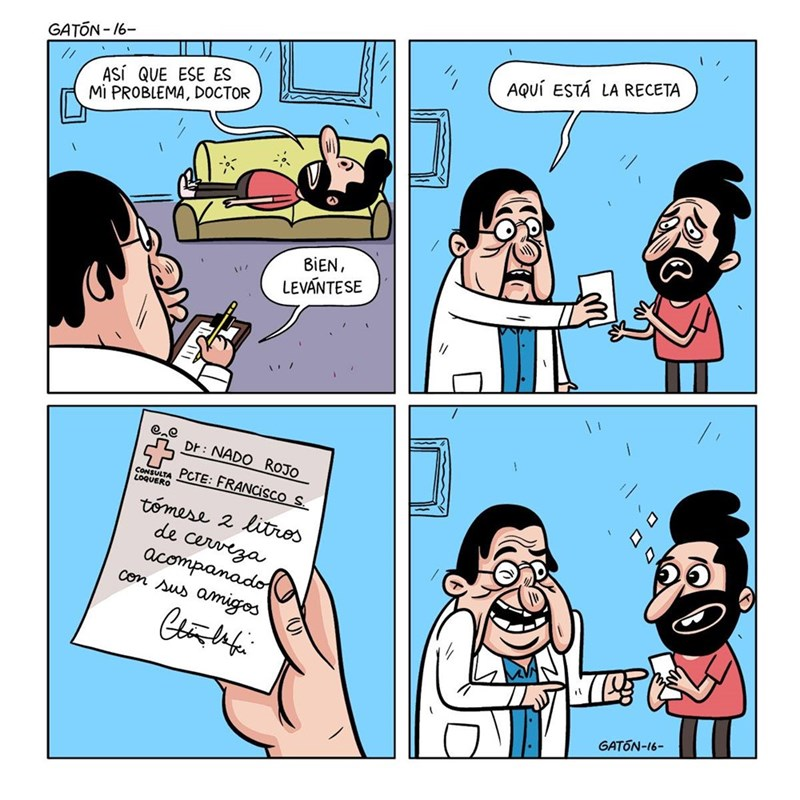 doctor le da una indirecta a su paciente