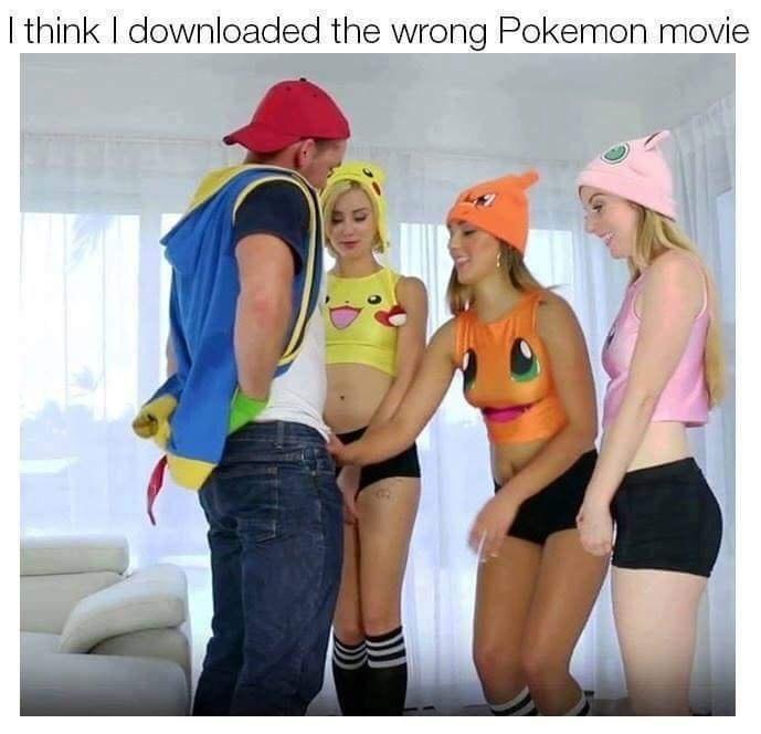 Funny meme about pokemon porn.