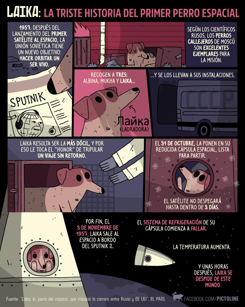 vineta sobre laika la perra astronauta