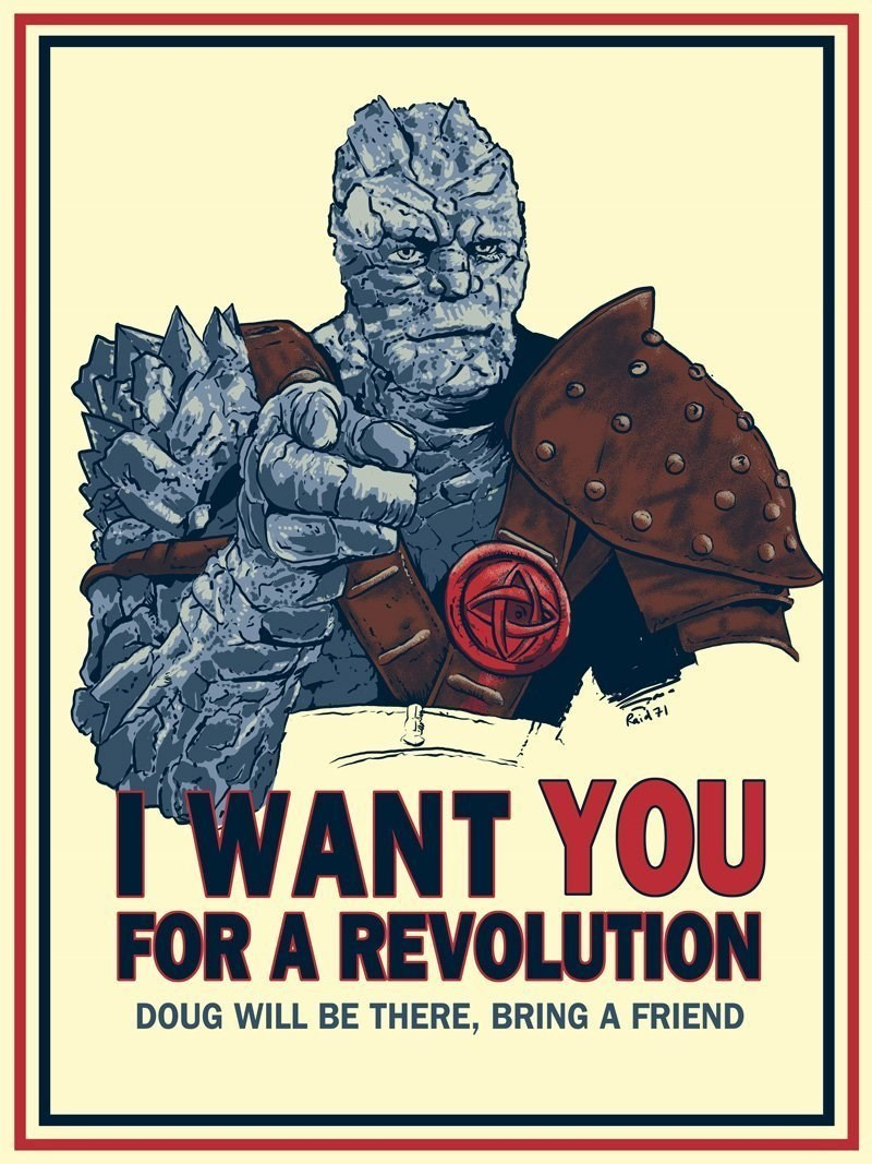 Poster - Paid 71 TWANT YOU FOR A REVOLUTION DOUG WILL BE THERE, BRINGA FRIEND