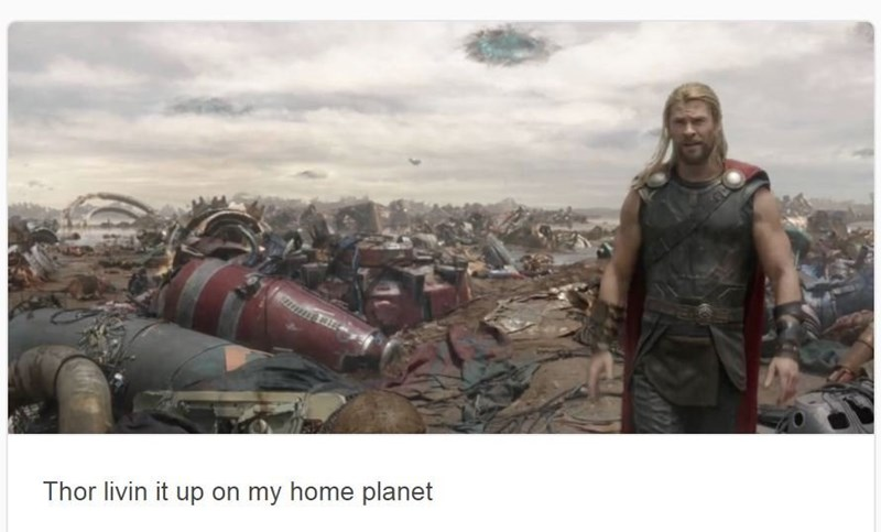 Stock photography - Thor livin it up on my home planet