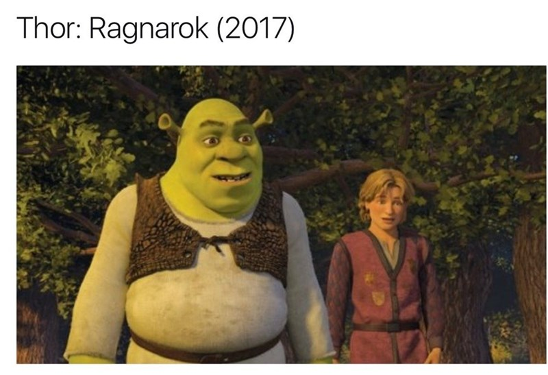 Animated cartoon - Thor: Ragnarok (2017)