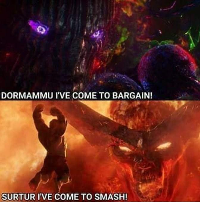 Action-adventure game - DORMAMMU I'VE COME TO BARGAIN! SURTUR I'VE COME TO SMASH!