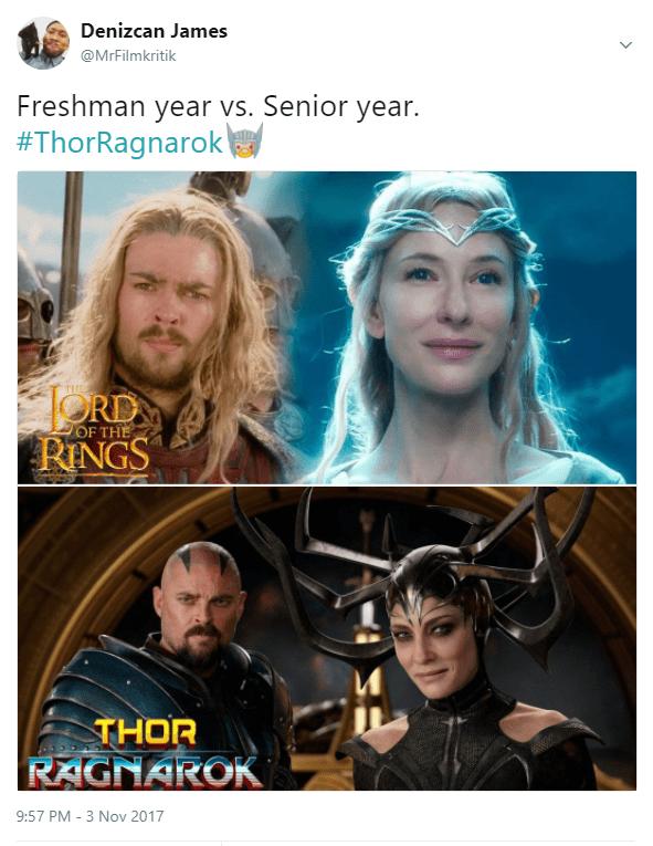 freshman-year-vs-senior-year-thorragnarok-the-ord-rings-of-the-thor-ragnarok-957-pm-3-nov-2017