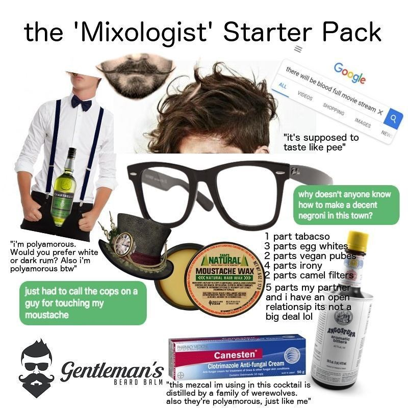 Funny meme about mixologists.