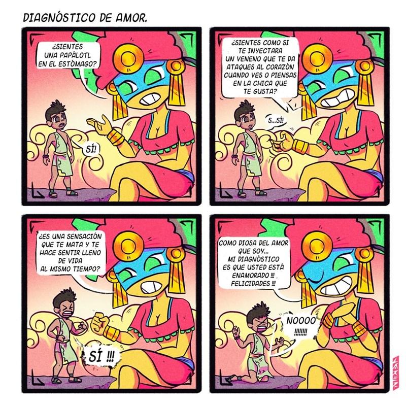 diagnostico de amor de la diosa Xochiquétzal