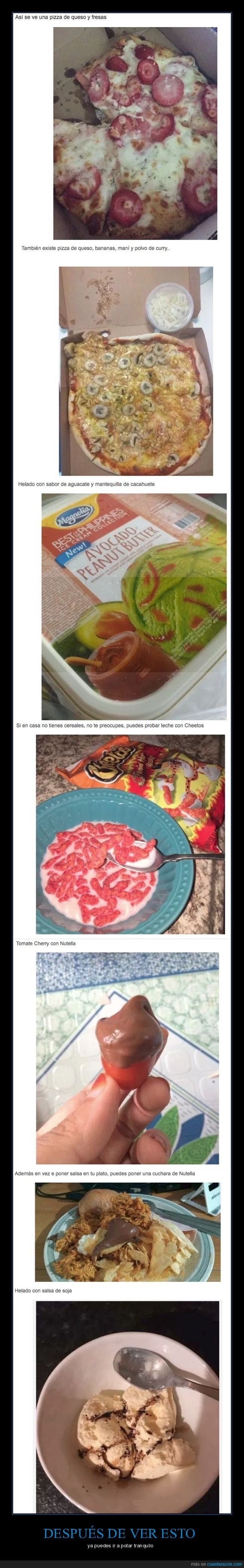 comidas que dan asco de solo verlas
