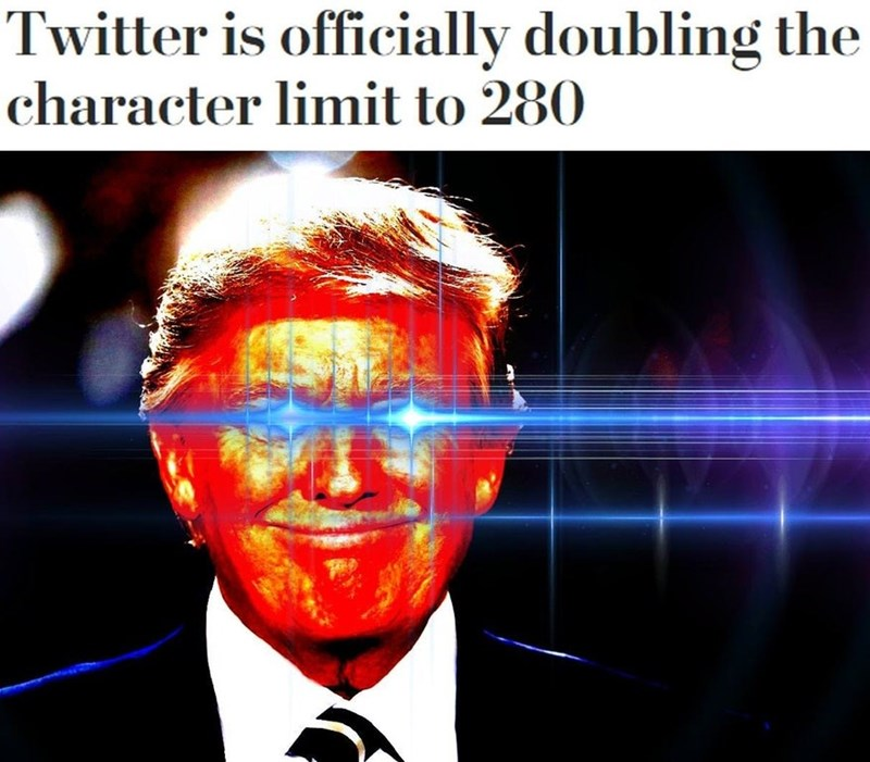 activated eyes on trump when Twitter officially doubles character limit to 280