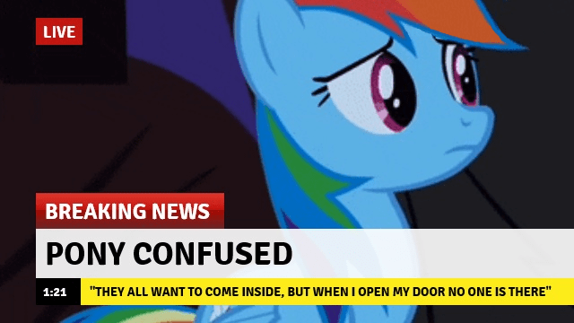 Memes Breaking News rainbow dash - 9094215168