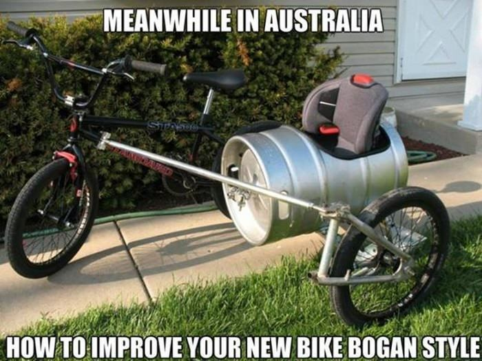 Vehicle - MEANWHILE IN AUSTRALIA SIPA HOW TO IMPROVE YOUR NEW BIKE BOGAN STYLE