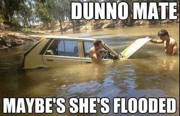 Vehicle - DUNNO MATE MAYBE'S SHE'S FLOODED