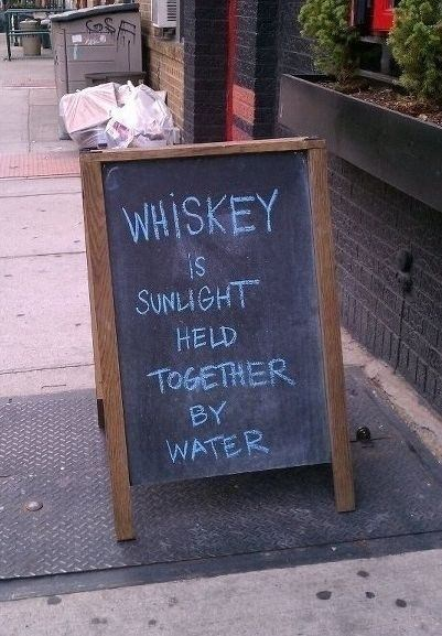 Text - WHISKEY SUNLIGHT HELD TOGETHER BY WATER