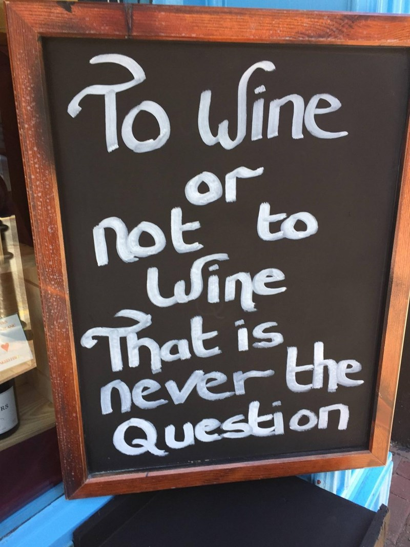 Blackboard - To uWine or not to Wine That is never the Question ANC RS