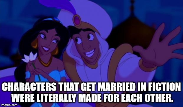 Animated cartoon - CHARACTERS THAT GET MARRIED IN FICTION WERE LITERALLY MADE FOR EACH OTHER. imgflip.com