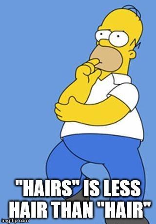 """Cartoon - """"HAIRS IS LESS HAIR THAN HAIR imgflip.com"""
