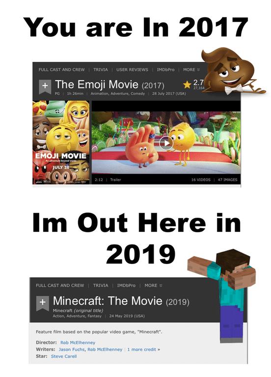 dank meme about a Minecraft movie
