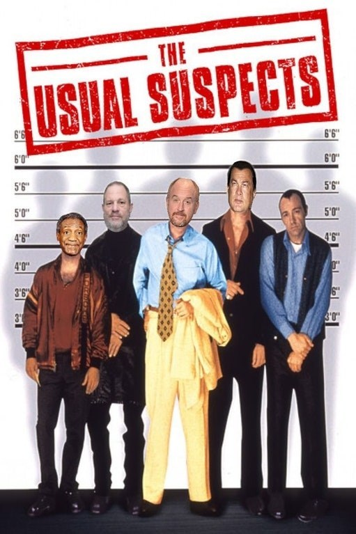 The Usual Suspects poster with celebrity sexual predators