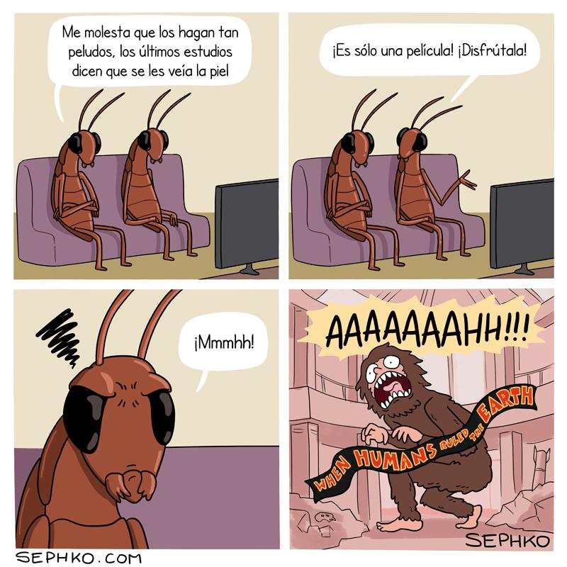 un universo paralelo en donde las cucarachas dominan