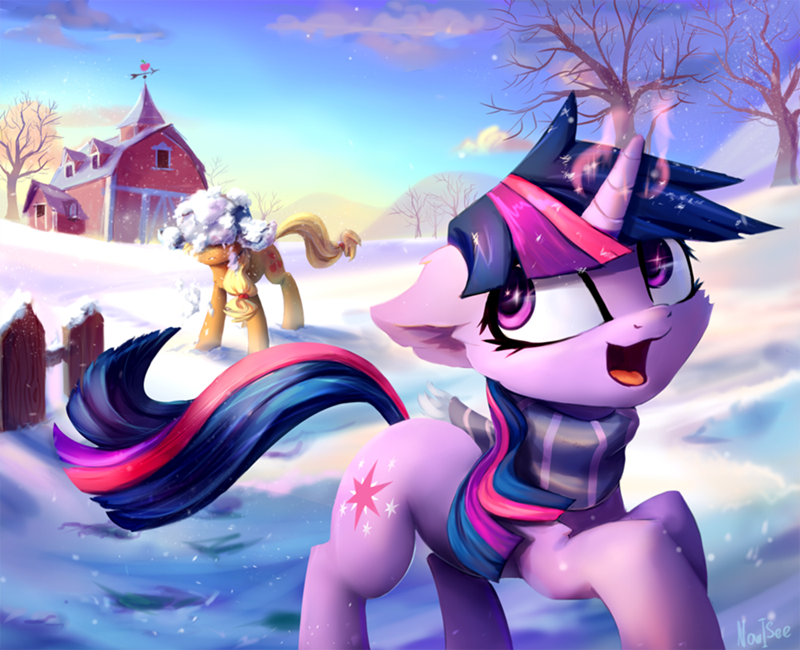 applejack twilight sparkle inowiseei - 9094576896