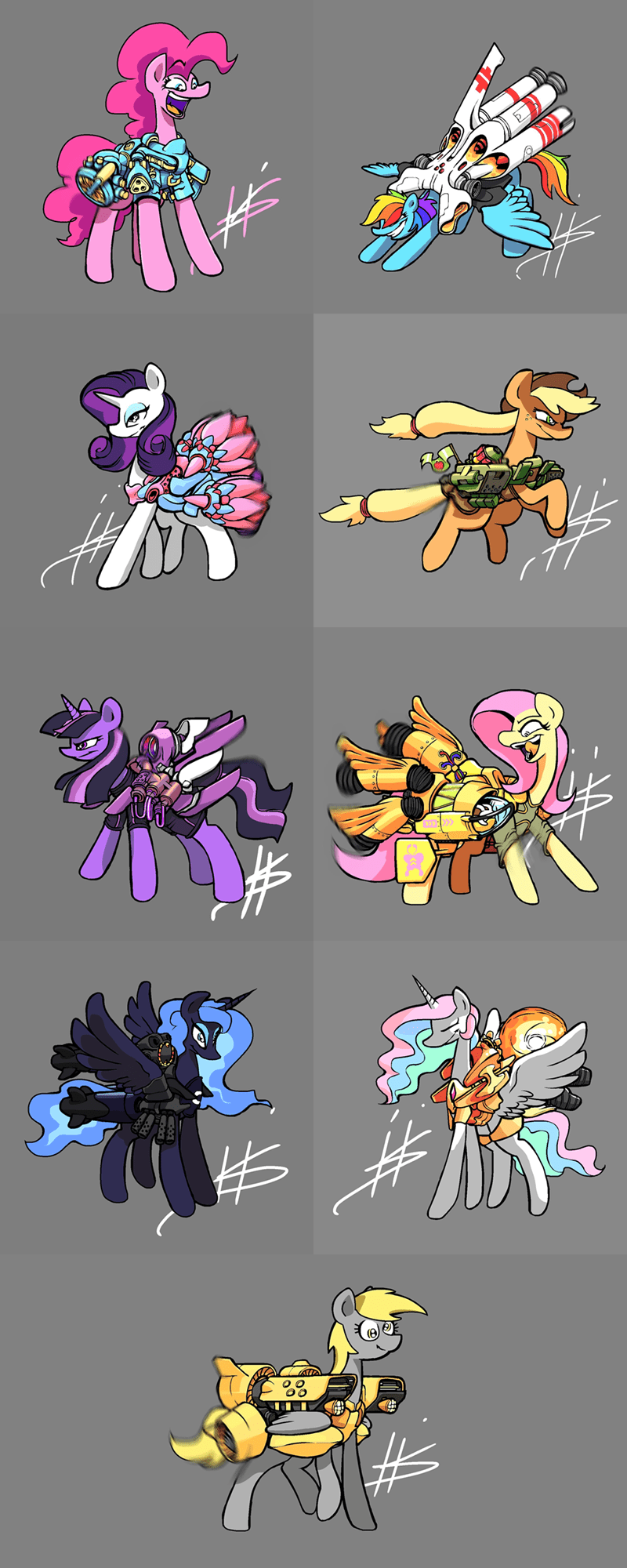 applejack derpy hooves twilight sparkle pinkie pie princess luna rarity princess celestia pencil brony horsepower fluttershy rainbow dash - 9094580224