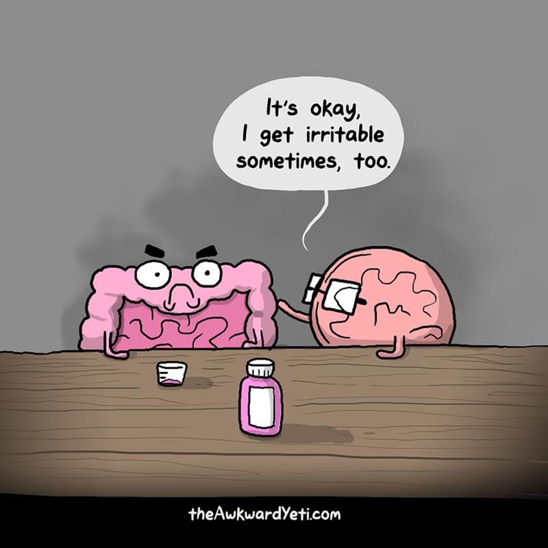 Cartoon - It's okay, get irritable sometimes, too. theAwkwardYeti.com