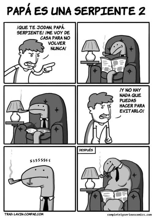 papa es una serpiente el comic