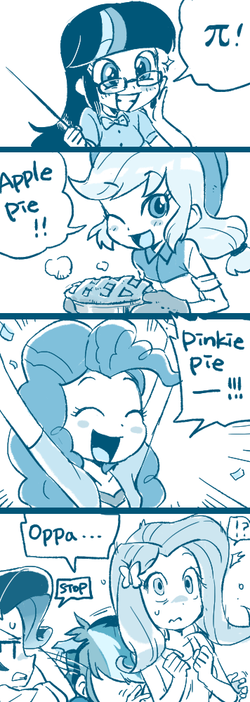 applejack twilight sparkle puns pinkie pie rarity comic baekgup fluttershy rainbow dash - 9094746112