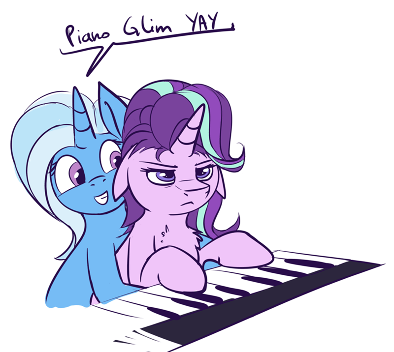 the great and powerful trixie duop-qoub Keyboard Cat starlight glimmer all bottled up ponify - 9094961408