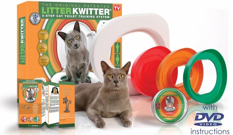 Cat - THE ORIGINAL PATENTED LITTERKWITTER TV 3-STEP CAT TOILET TRAINING SYSTEM WINNER aCT WNHER y STEP BY.STEP INSTRUCTION MANUAL ERKWITTER Sep with DVD litterkwittor litterkwitter VIDEO instructions