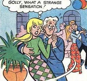 Cartoon - GOLLY, WHAT A STRANGE SENSATION AVANA