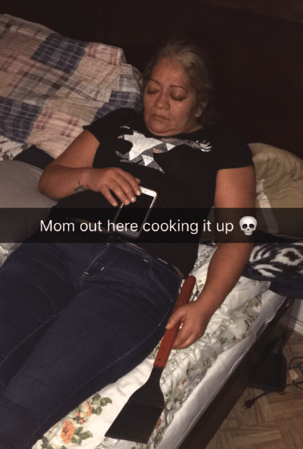 Leg - Mom out here cooking it up