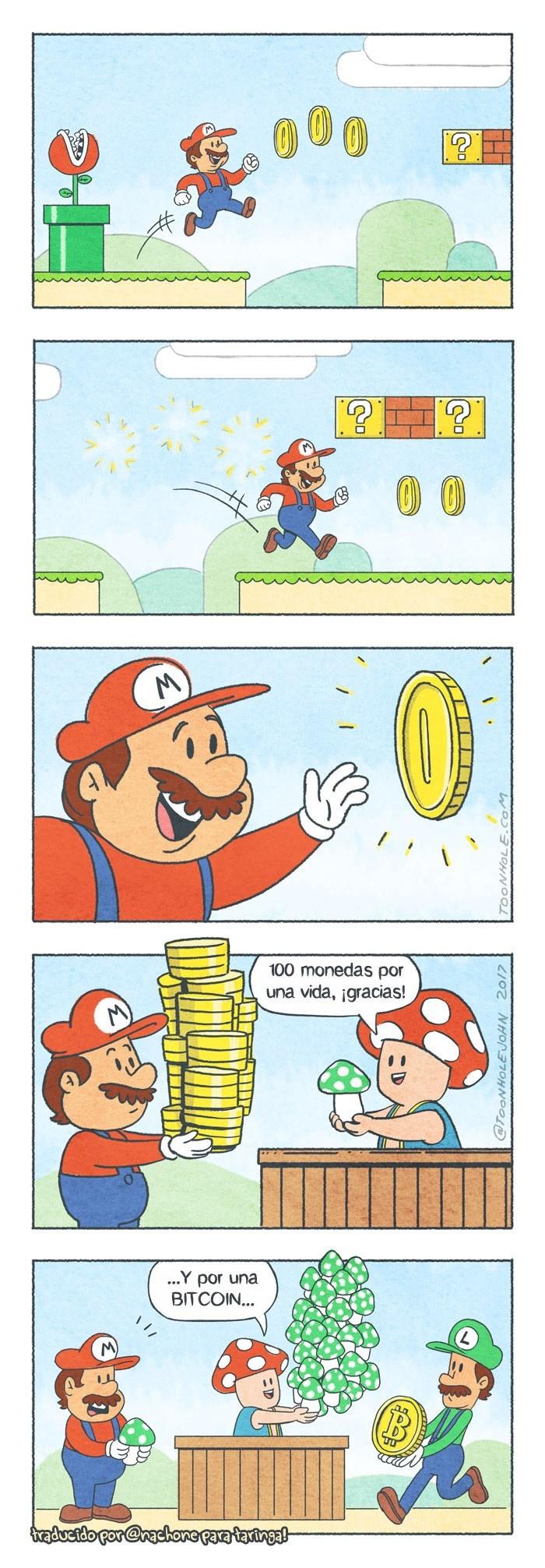 mario cambia 100 monedas por una vida
