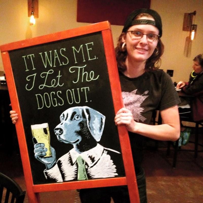 Blackboard - IT WAS ME T Lt The DOGS OUT tte