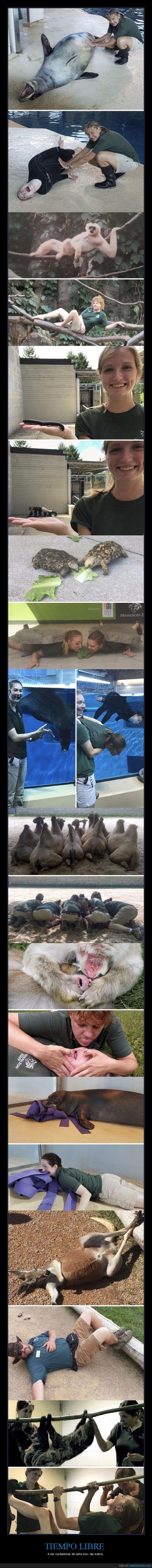 chicos del zoologico imitando a los animales