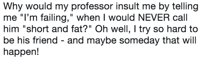 Trump meme about trying to be your professor's friend yet insulting him