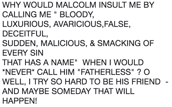 """Trump meme about his """"short and fat"""" tweet with Shakespeare's Macbeth"""