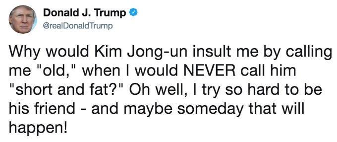Trump meme about being a friend to Kim Jong un