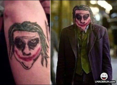 cringe tattoo - Joker - LMAOBRUH.com