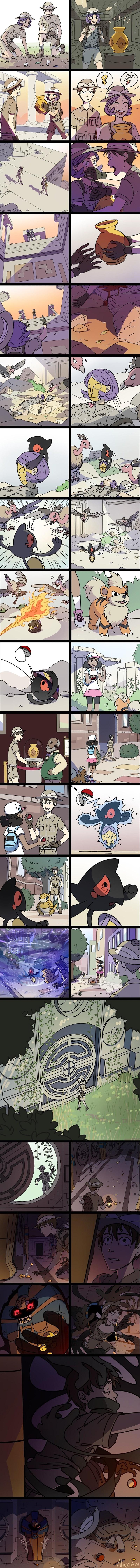 una historia de pokemon en el antiguo egipto
